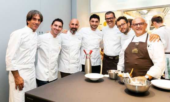 Da sinistra: Davide Oldani, Fabio Pisani, Andrea R