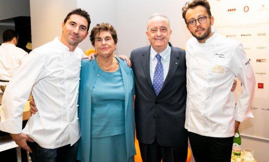 Fabio Pisani e Alessandro Negrini con Aimo e Nadia Moroni