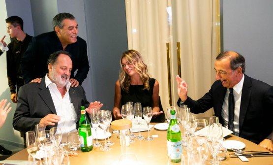 Il Sindaco di Milano Beppe Sala con Claudio Ceroni e Paolo Marchi