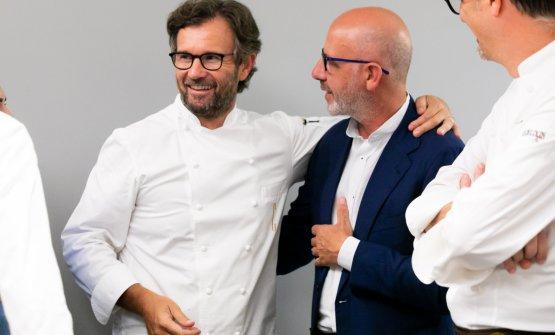 Carlo Cracco con Franco Pepe