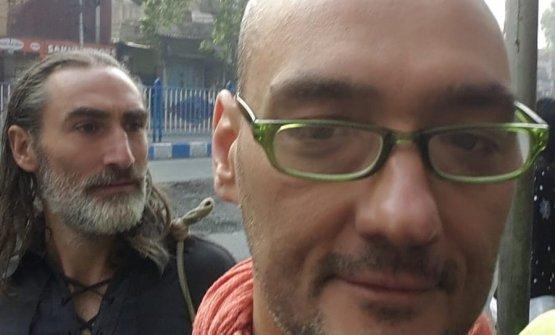 Salvini con Folco Terzani in India