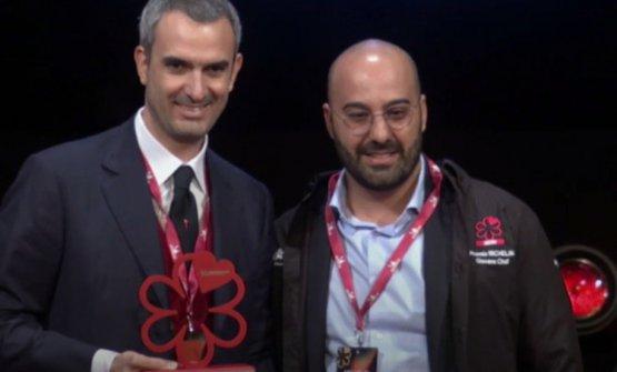"""Puleio premiato come""""Miglior giovane chef"""" dalla Guida Michelin 2020"""