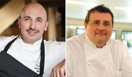 Da sinistra,Andrea Ribaldone, chef del ristorant