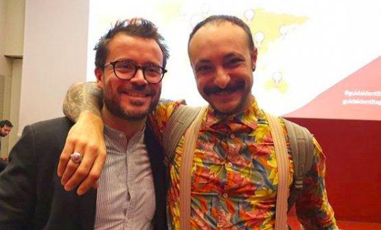 Con Diego Rossi, premiato come miglior chef italiano