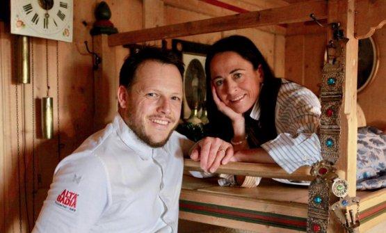Andrea Irsara con la moglie Evelyn