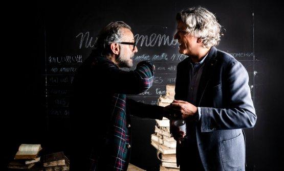 Giorgio Locatelli con Massimo Bottura a Identità Milano 2019