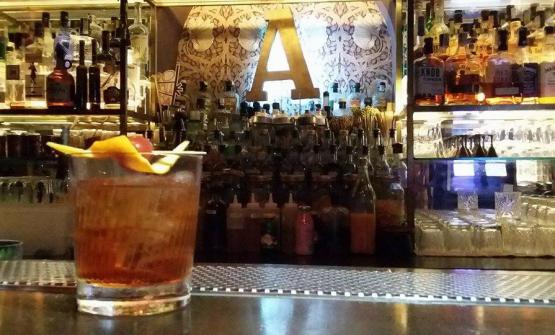Young Fashioned: sciroppo di acero, Cynar, cocchi rosa, angostura, peychaud's bitter, bourbon whishy