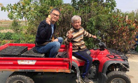 Matsugama con un agricoltore giapponese