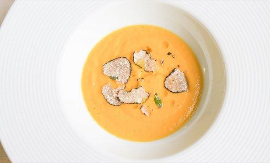 Zuppa di patate dolce e tartufo di Baulì