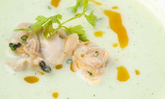 Zuppa cetrioli e vongole