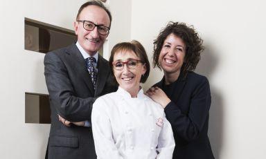 Marta Grassi, chef del Tantris, col marito Mauro G