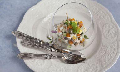 Storia e leggenda dell'insalata Olivier, ossia l'insalata russa. E la ricetta 'vera'