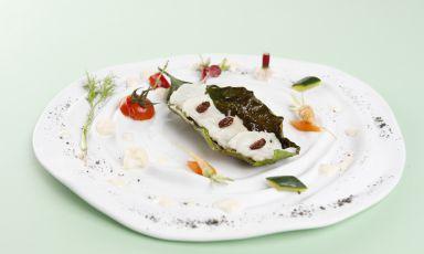 Dentice imperiale, provola e uvetta: la ricetta di Alfonso Caputo