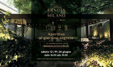 I cocktail di Mattia Pastori, l'assiette di bontà... È l'Aperitivo al giardino segreto a Identità Golose Milano