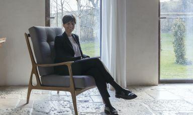 Cristiana Romito, classe 1972, maitre d'hotel di Reale Casadonna a Castel di Sangro (L'Aquila). Il ristorante riaprirà a giugno, in data ancora da definire(fotoBarbara Santoro)