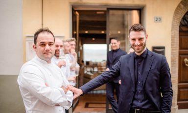 Ronald Bukri e Francesco Perali, chef e direttore di Osticcioa Montalcino