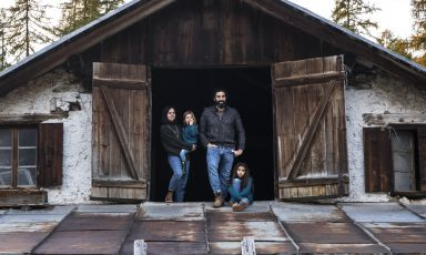 La famiglia Gaspari, al timone del ristorante San BritediCortina d'Ampezzo (Belluno), una stella Michelin dal dicembre scorso