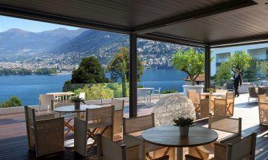 Uno scorcio panoramico del The View Hoteldi Lugano, Svizzera