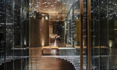 L'ingresso di Aalto - part of Iyo, piazza Alvar Aalto, Milano, una stella Michelin da poche settimane (fotoAndrea Martiradonna)