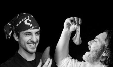Stefano Ciabarri e Stefano Masanti, rispettivamente sous chef e chef patron del ristorante Il Cantinone di Madesimo (Sondrio), una stella Michelin. Dal 22 al 25 gennaio cucinano a Identità Golose Milano (approfondisci qui)