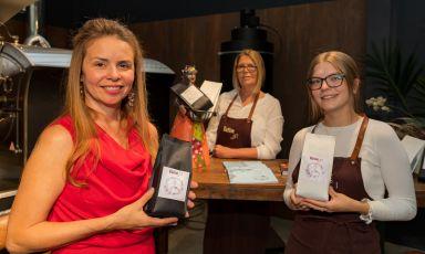 Kaffee Art, lo stabilimento ad Augsburgdella signora Liebler (al centro)