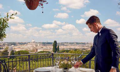 Un brindisi sui tetti di Roma