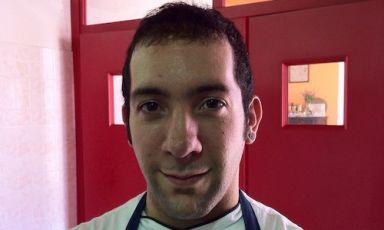 Alessio Cancedda, sous-chef del ristorante S'Apposentu di Casa Puddu aSiddi (Cagliari). E' uno dei 10 finalisti della seconda edizione del Premio Birra Moretti Grand Cru, finale 12 novembre prossimo alla Città del Gusto di Roma