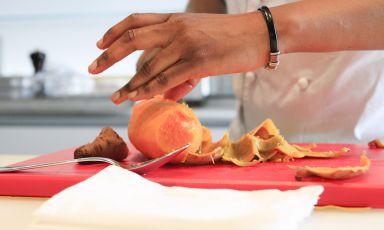 Victoire Gouloubi, congolese, chef del ristorante Victoire di Milano, è stata la prima protagonista di Cucine del Mondo, la sezione di Identità Expo S.Pellegrinodedicata alla cucina internazionale, ogni lunedì pomeriggio