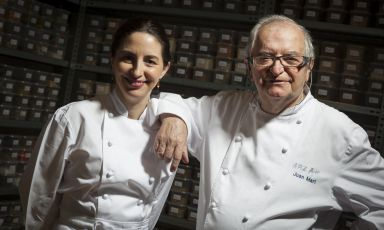 "Elena and Juan Marì Arzak in their ""Banco de Sa"