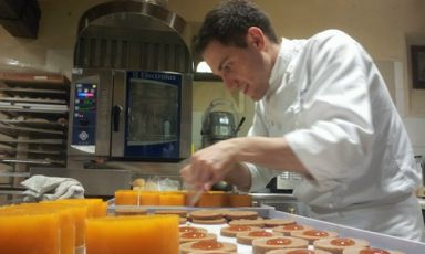 The rise through the ranks of a pastry chef