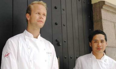 Bjorn Svensson and Jo Bøe Klakegg, chefs of the new Fauna restaurant in Oslo. Their past is divided between Noma, Oscarsgate, Bagatelle and other temples of Scandinavian cuisine