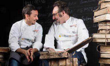 Gianluca Gorini presenta la cena a Identità Milano con Paolo Lopriore