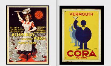 Due manifesti pubblicitari della Collezione Soleri di Torino, che conta oltre 4mila esemplari