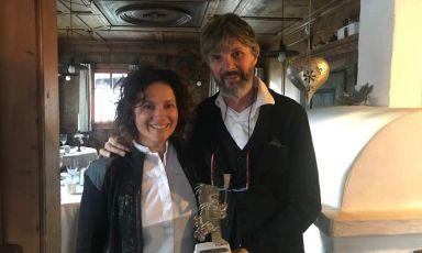 Roberto Brovedani con la moglie Fabrizia Meroi