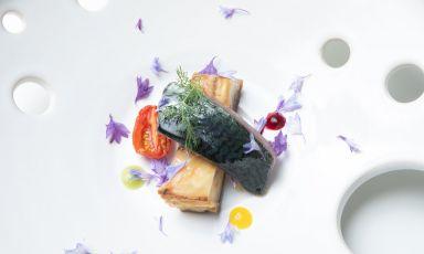 Un bel piatto di Pietro D'Agostino a La Capinera di Taormina, uno dei magnifici sette della nostra selezione odierna
