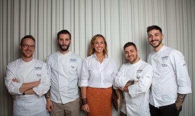 I giovani finalisti italiani conCamilla Cancellieri,Brand manager Premium Waters Gruppo Sanpellegrino - Tulle le foto di Modestino Tozzi