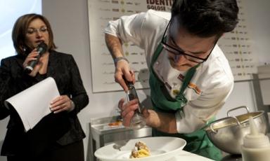 Luciano Monosilio con Eleonora Cozzella, presentatrice per il quarto anno consecutivo della giornata di Identità di Pasta