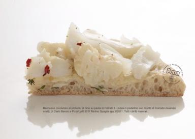 Baccalà e cavofiore al profumo di timo su pasta di Petra® 3 - Scatto di Carlo Baroni
