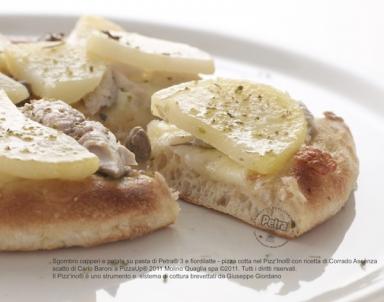 Sgombro capperi e patate su pasta di Petra® 3 - Scatto di Carlo Baroni