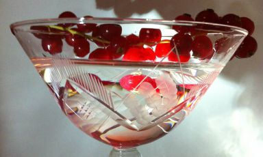 This Kir Martini is a classic Martini cocktail s