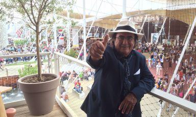 Anche il popolare Al Bano a Identità Expo S.Pellegrino: da lui tanti complimenti per gli organizzatori dell'Esposizione milanese