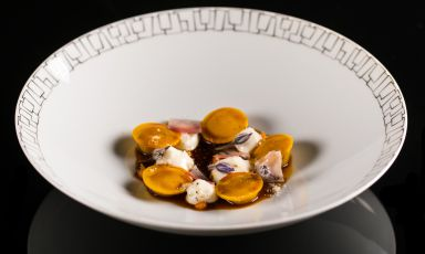 Raviolini di quaglia alla carbonara: il piatto dell'inverno di Francesco Apreda(tutte le foto sono di Alberto Blasetti)