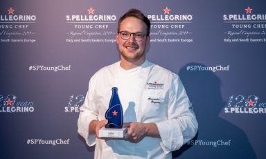 Il vincitore della FinaleRegionale Italia e Sud Est Europa diS.Pellegrino Young Chef, Alessandro Bergamo