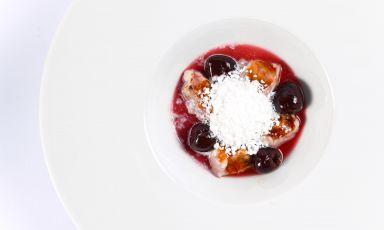 Enrico Mazzaroni e un dessert a base di cervello d'agnello