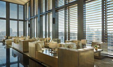 Uno scorcio del Bamboo Bar dell'Armani Hotel Milanoin Via Manzoni