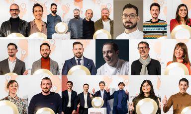 Tutte le giovani stelle premiate a Milano in occasione della Guida ai ristoranti di Identità Golose 2021, online da oggi(foto di Sonia Santagostino, collage di Manuel Crippa)