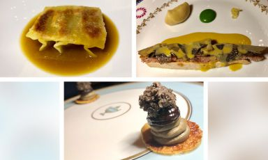Guinea fowl in three dishes, the latest magic trick at Osteria Francescanas