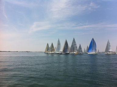 Le imbarcazioni pronte al via