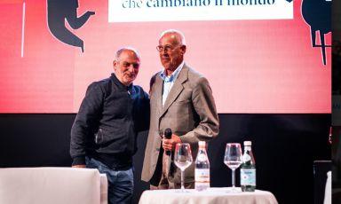 Corrado Assenza e Josko Gravner, protagonisti tra i protagonisti della seconda edizione di Foodexp, 15-17 aprile scorsoa Lecce