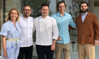 The team at Giocondain Gabicce Monte, opening on